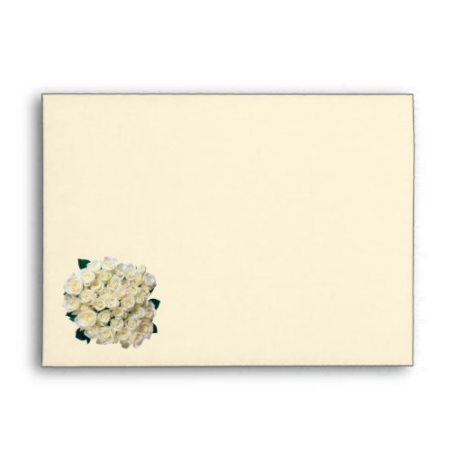 White-cream roses Envelope