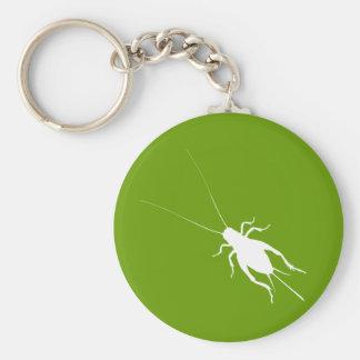 White Cricket Keychain