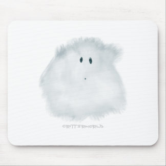 White Critter 01 Mouse Pads