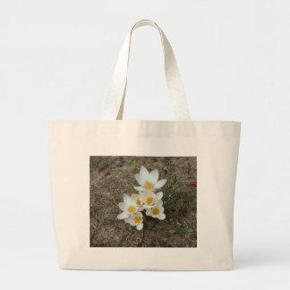 White Crocus Blooms Bag