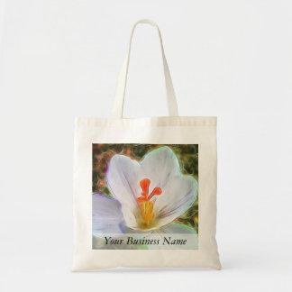 White Crocus Fantasy Tote Bag