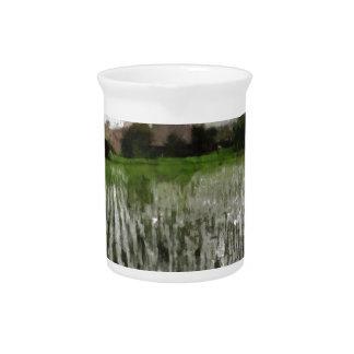 White crop drink pitcher