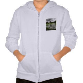 White crop hooded sweatshirt