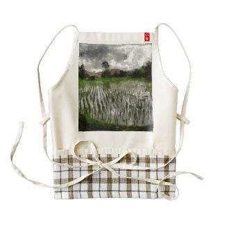 White crop zazzle HEART apron