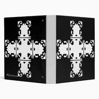 white cross 3 ring binder