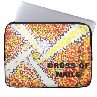 White cross - Abstract Laptop sleeve