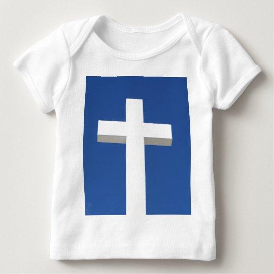 White Cross Baby T-Shirt