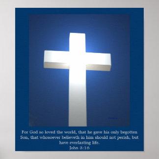 White Cross, John 3:16 poster