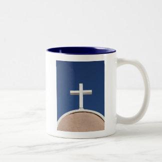 White Cross of Taos Two-Tone Coffee Mug