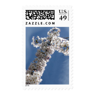 White Cross on Blue Sky Stamps