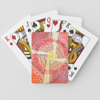 White cross red circle playing cards