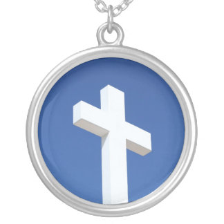 White Cross, Silver Necklace