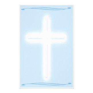 White Cross Stationary Custom Stationery