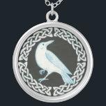 "White Crow pendant necklace<br><div class=""desc"">White crow in a celtic circle</div>"