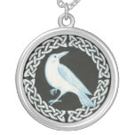 White Crow pendant necklace