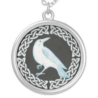 White Crow pendant necklace