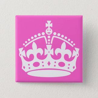 White Crown Button
