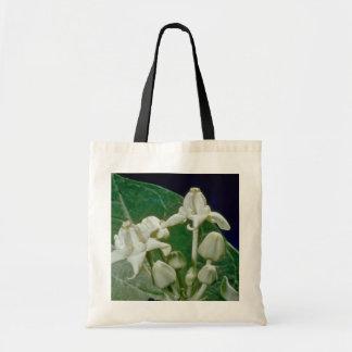 white Crown flower (Calotropis gigantea) flowers Budget Tote Bag