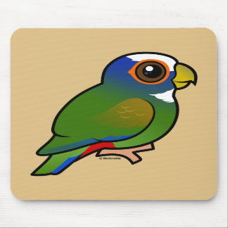 White-crowned Parrot Mouse Pad