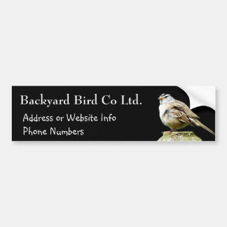White Crowned Song Sparrow Car Bumper Sticker