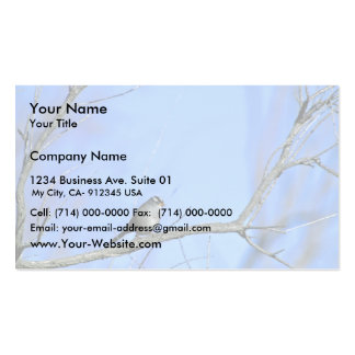 White-crowned sparrow business card