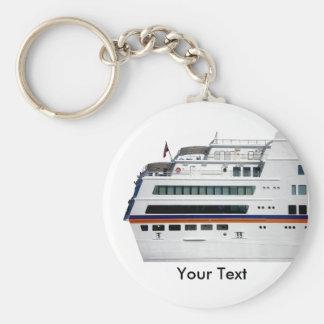 White Cruise Ship Covered Decks Keyring Key Chain