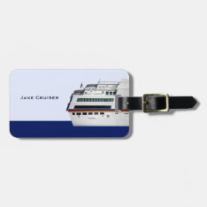 White Cruise Ship Covered Decks Travellers Luggage Tag at Zazzle