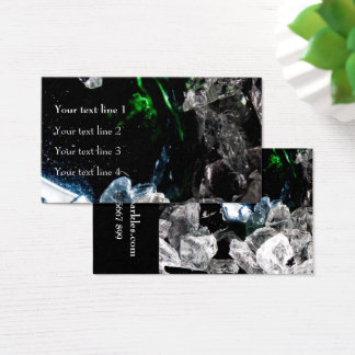 White Crystals in Black outer space Business Card