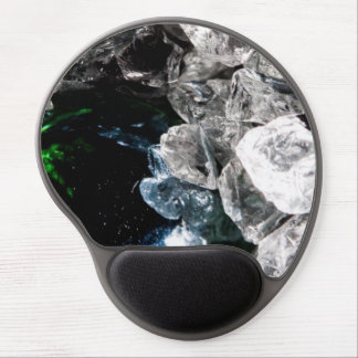 White Crystals in Black outer space Gel Mouse Pad