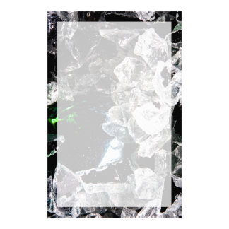 White Crystals in outer space Stationery Paper