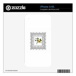 white cube frame flower iPhone 4 skin