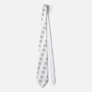 white cube frame flower neck tie