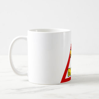 White cup, Pope on board Coffee Mug