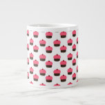 White cupcake pattern 20 oz large ceramic coffee mug