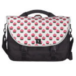 White cupcake pattern commuter bags