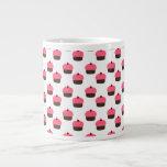 White cupcake pattern extra large mug