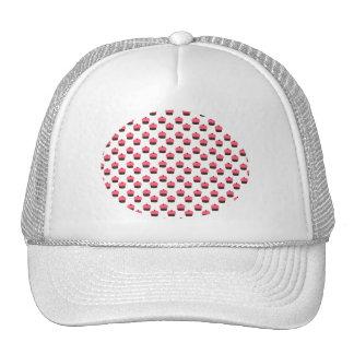 White cupcake pattern trucker hat