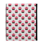 White cupcake pattern iPad folio covers