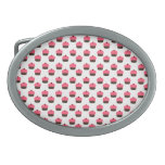 White cupcake pattern oval belt buckles