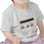White Cupcakes on Brown Background Business Items Tshirt