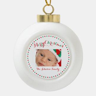 White Custom Christmas Ball Ornaments