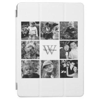 White Custom Family Photo Collage iPad Air Cover