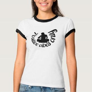 White custom printed Women's Canvas Ringer T-Shirt