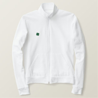 WHITE Custom St. Patricks Day Clover Long Sleeve Jackets