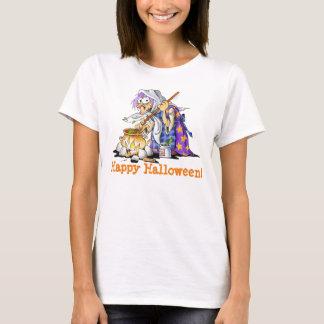 White Custom Womens Halloween Shirts Purple Witch