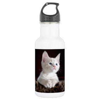 White Cute Kitty Water Bottle