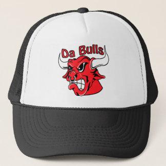 White  Da Bulls Trucker Hat