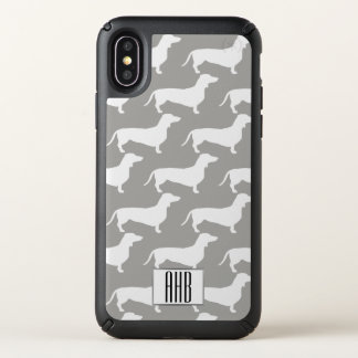 White Dachshunds Pattern & Initial Letters Speck iPhone X Case