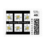 White Daffodil Postage Stamps