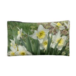 White Daffodils Cosmetic Bag